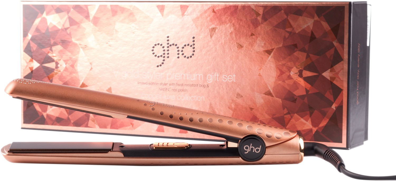 GHD V gold styler premium gift set – copper luxe collection